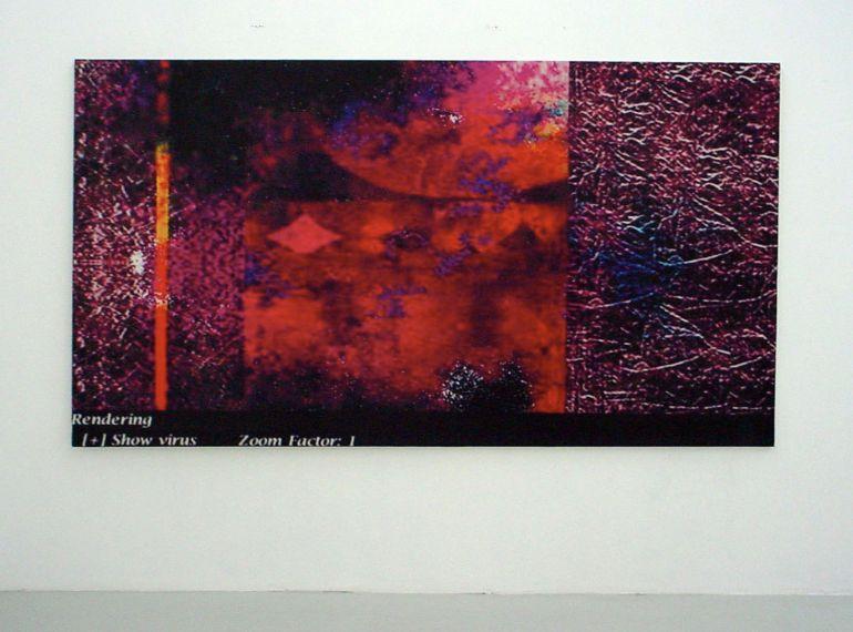 Joseph Nechvatal, ignudiO gustO majOr (2003)168x305 cm 1