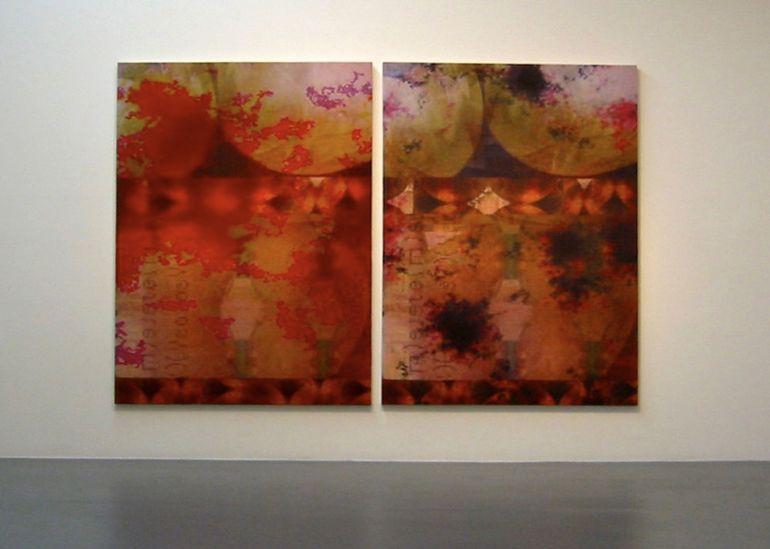 Joseph Nechvatal, Orgiastic abattOir flawless ignudiO (2003) 224x168cm 1