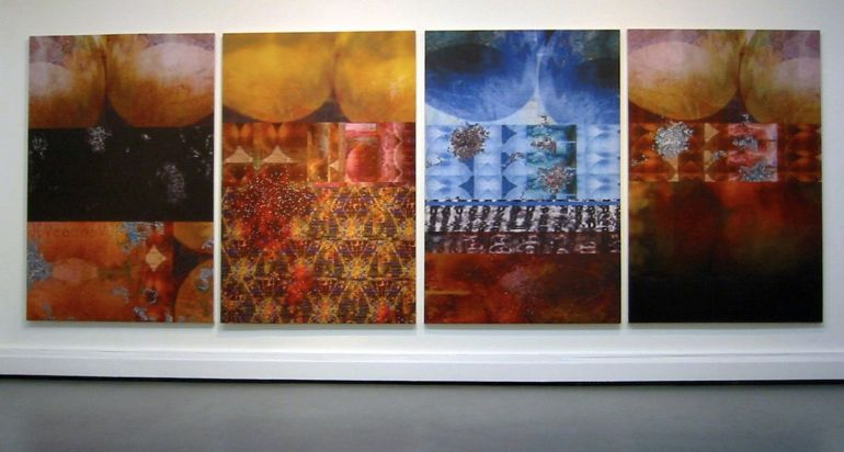 Joseph Nechvatal, REAL TIME {a procedure of ignudiO excess} (2003) 168x488cm 1