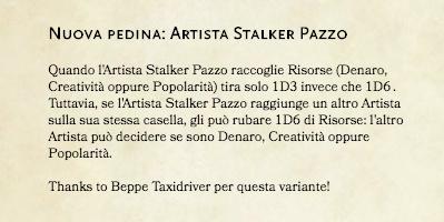 roccioletti - variante artista stalker pazzo