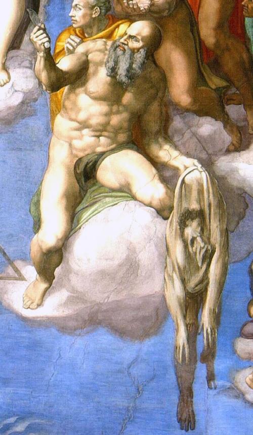 Roccioletti - Michelangelo, Giudizio Universale, San Bartolomeo