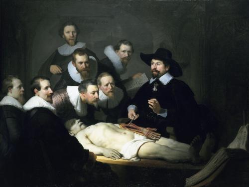 Roccioletti - Rembrandt, Lezione di anatomia del dottor Tulp, 1632