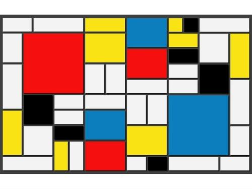 Piet Mondrian, Komposition mit Rot, Gelb, Blau und Schwarz